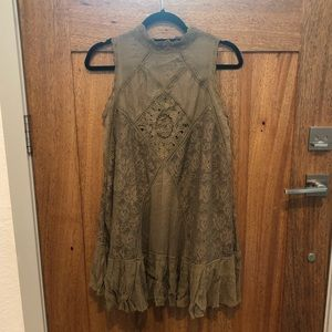 Free People Camel Lace Dress
